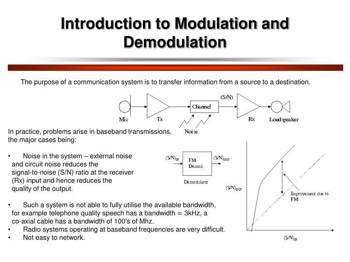 Introduction to modulation and demodulation