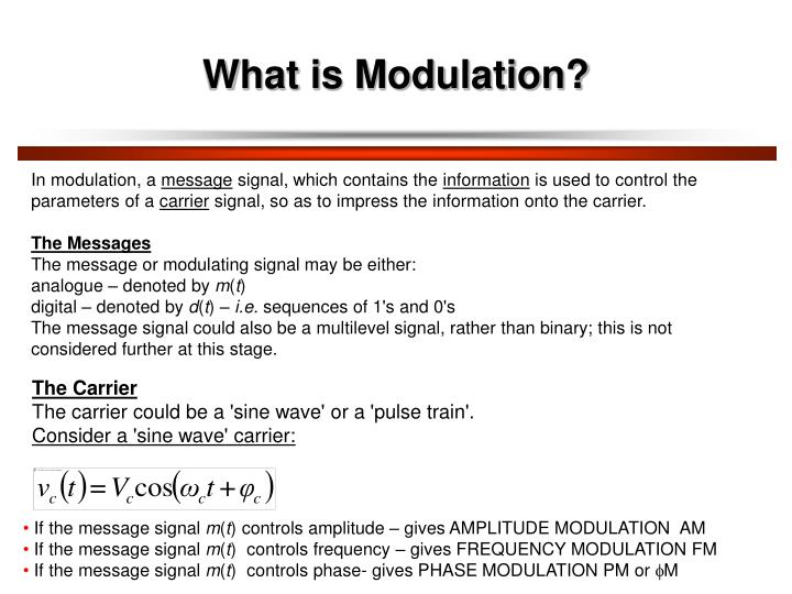 What is Modulation?