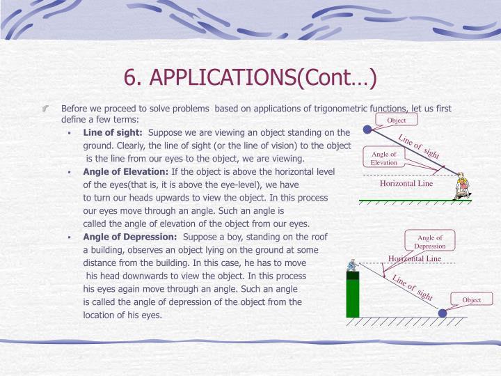 6. APPLICATIONS(Cont…)