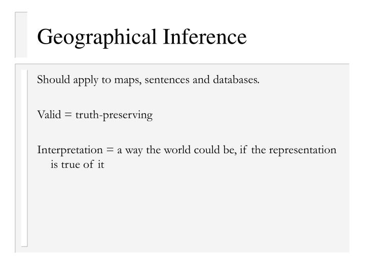 Geographical Inference