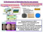 2 development of fabrication line for new sensors