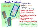 detector prototypes