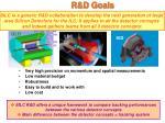 r d goals