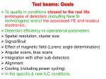 test beams goals