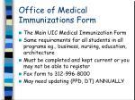 office of medical immunizations form