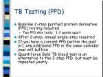 tb testing ppd