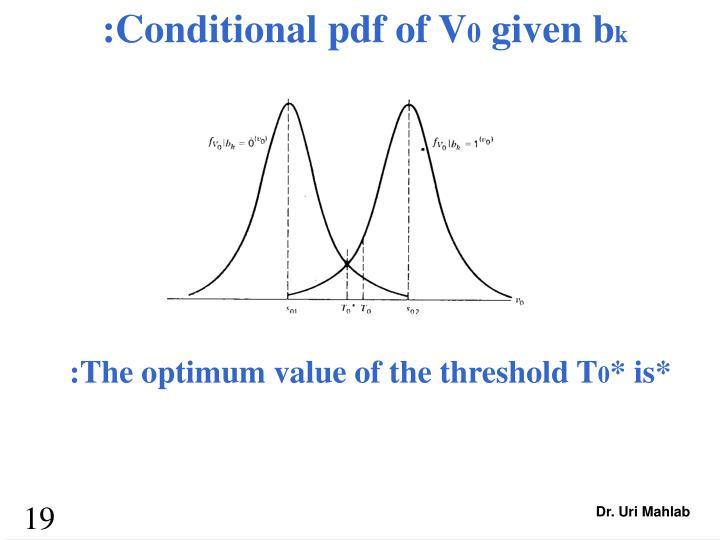:Conditional pdf of V