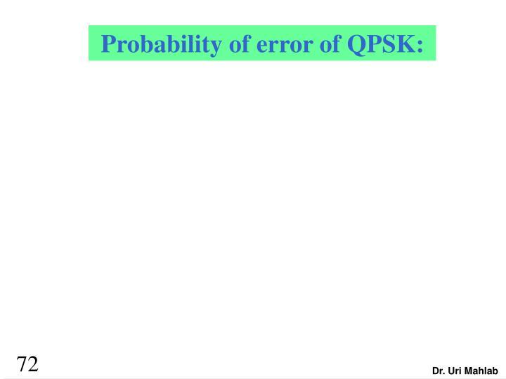 Probability of error of QPSK:
