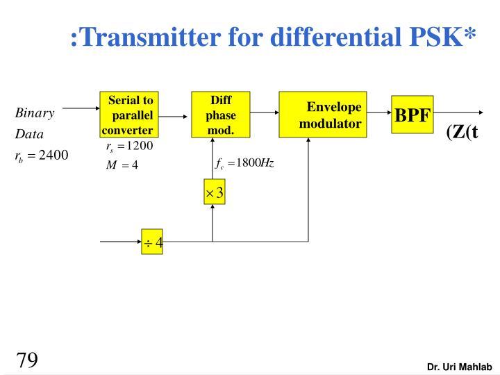 :Transmitter for differential PSK*