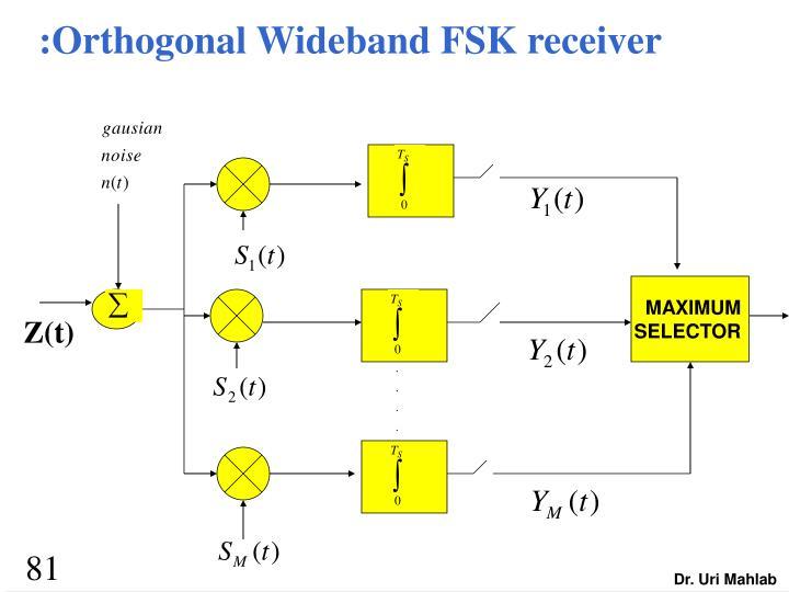 :Orthogonal Wideband FSK receiver