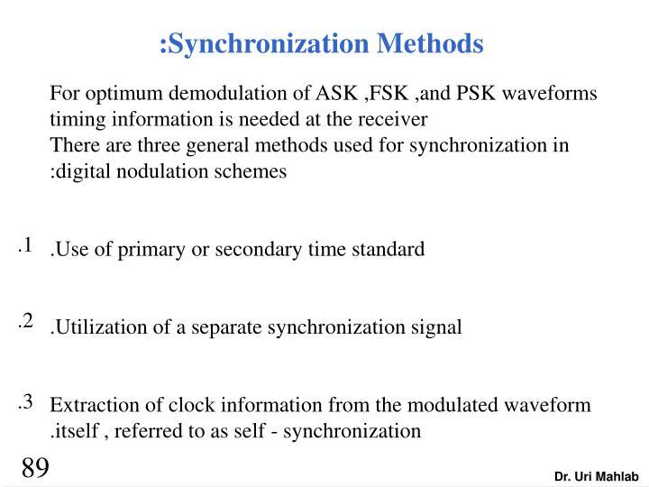 :Synchronization Methods