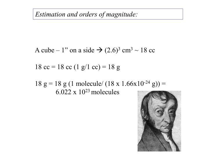 Estimation and orders of magnitude: