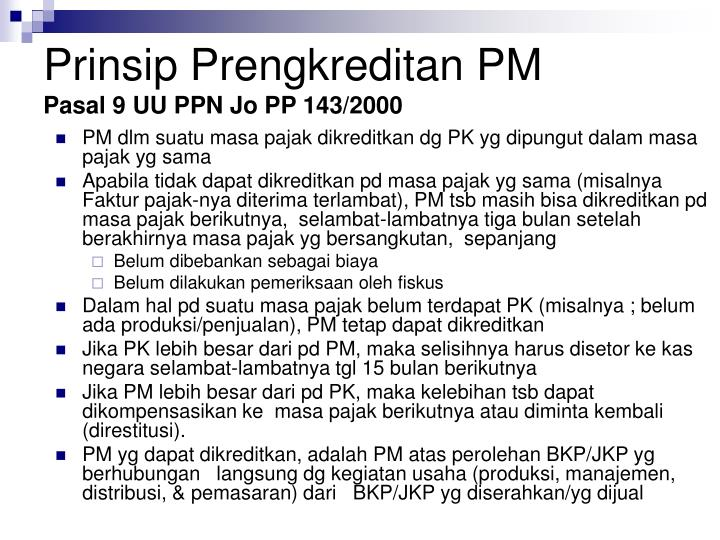 Prinsip Prengkreditan PM