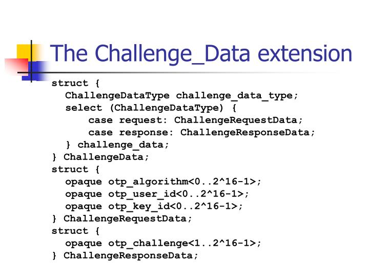 The Challenge_Data extension