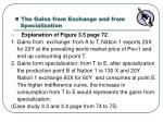 the gains from exchange and from specialization1
