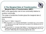 the marginal rate of transformation