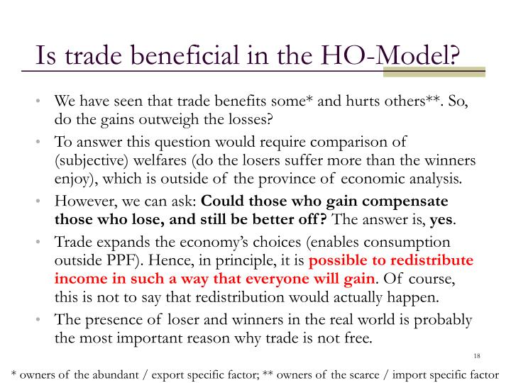 Is trade beneficial in the HO-Model?