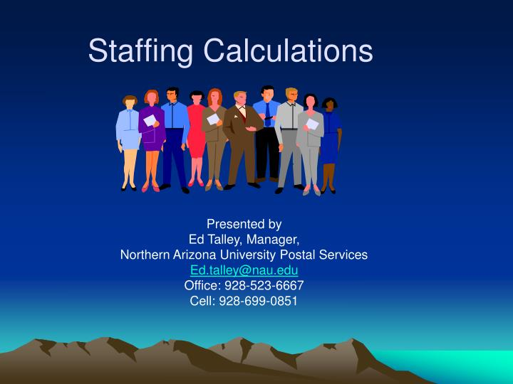 staffing calculations n.