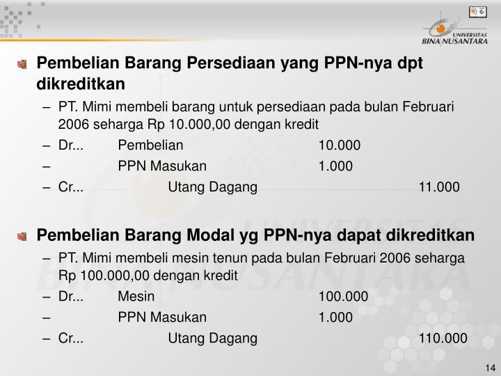 Ppt Pertemuan 12 Akuntansi Ppn Dan Ppnbm Powerpoint Presentation