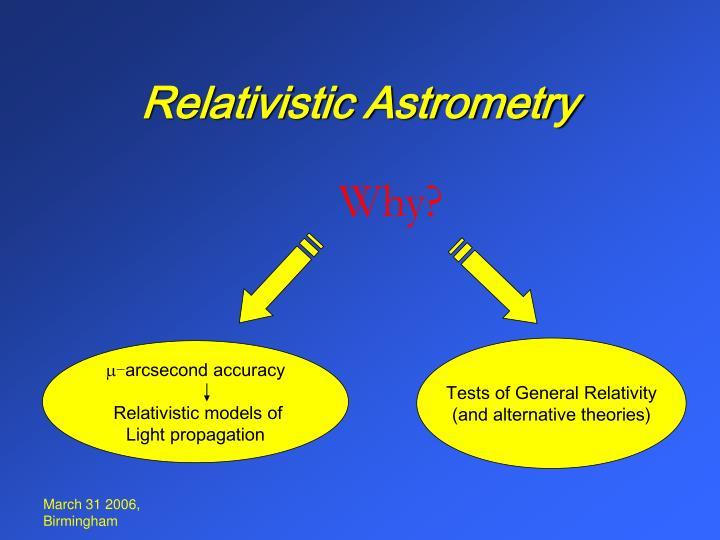 Relativistic Astrometry