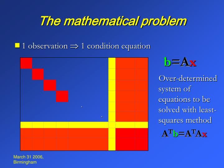 The mathematical problem