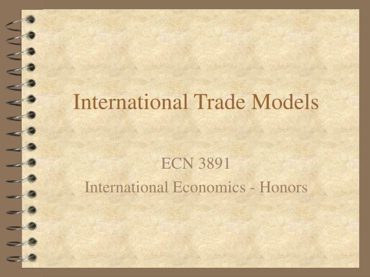 International trade models
