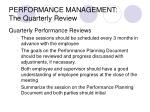 performance management the quarterly review