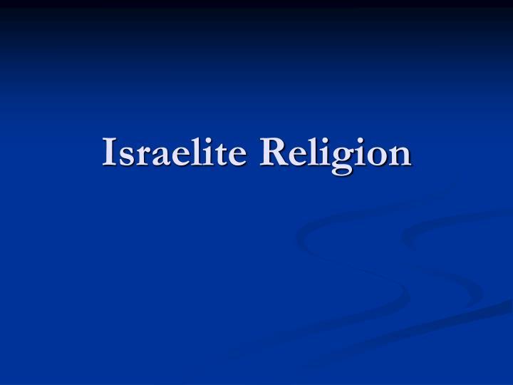 israelite religion n.