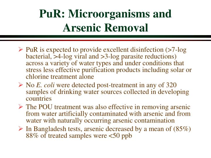 PuR: Microorganisms and