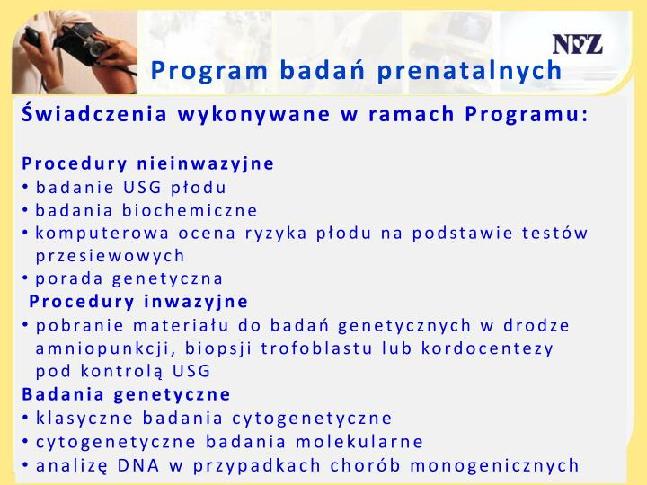 Program badań prenatalnych