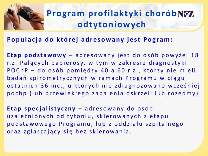 Program profilaktyki chorób odtytoniowych