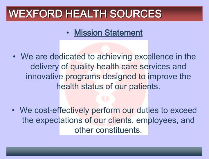 Wexford health sources