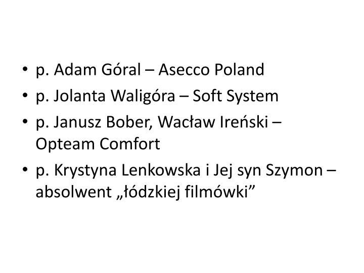 p. Adam Góral – Asecco Poland