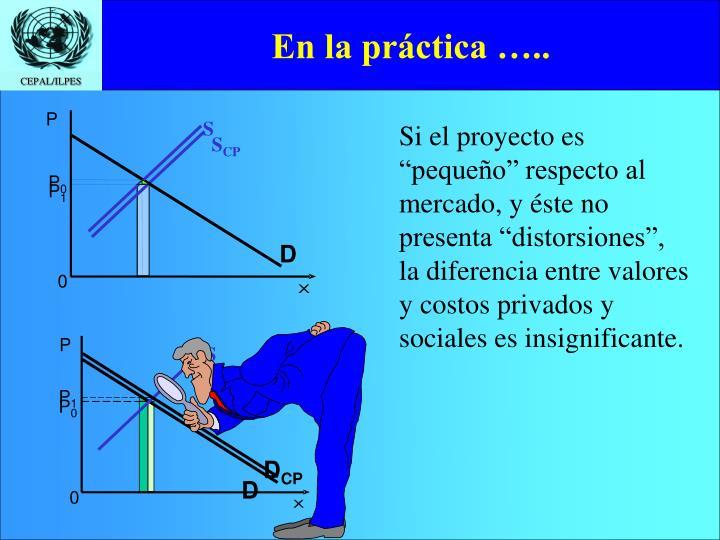 En la práctica …..
