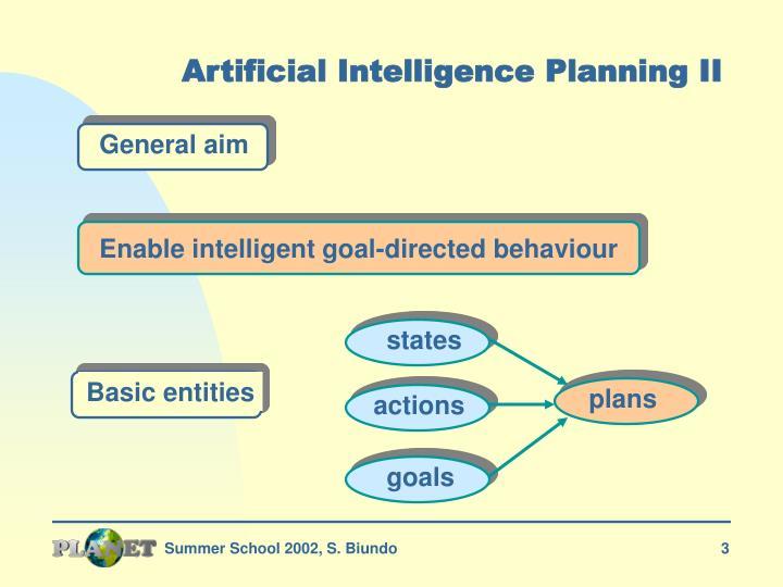 Artificial intelligence planning ii