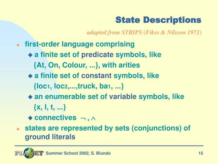 State Descriptions