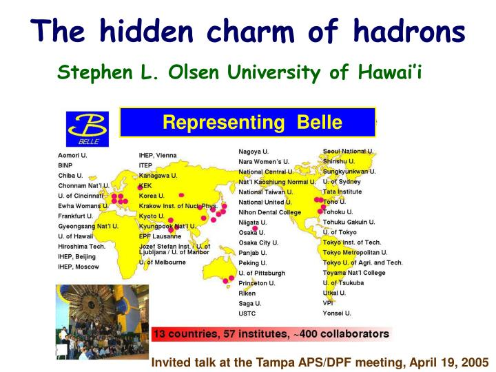 the hidden charm of hadrons n.