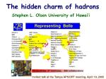 the hidden charm of hadrons