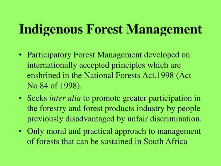 Indigenous Forest Management