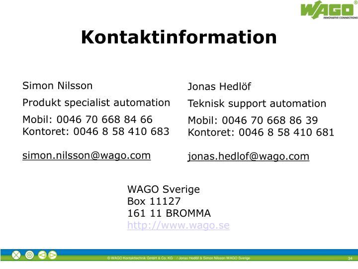 Kontaktinformation