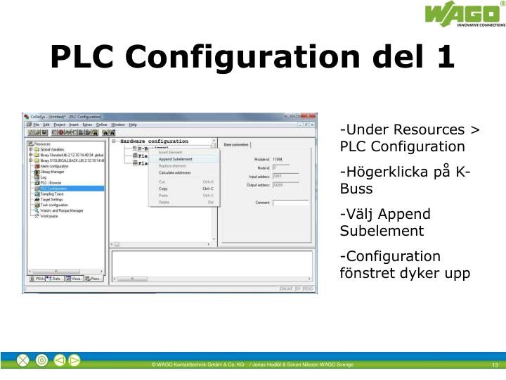 PLC Configuration del 1