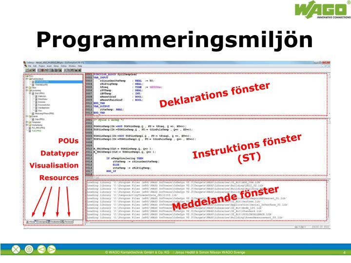 Programmeringsmiljön