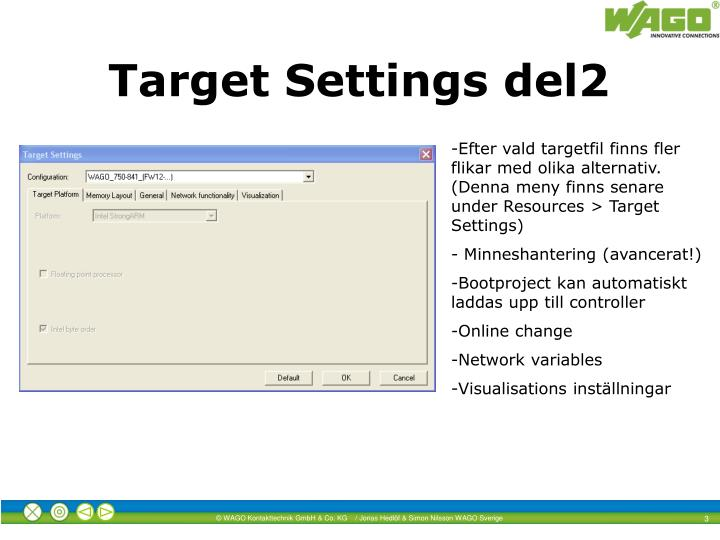 Target settings del2