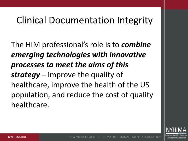 Clinical Documentation Integrity