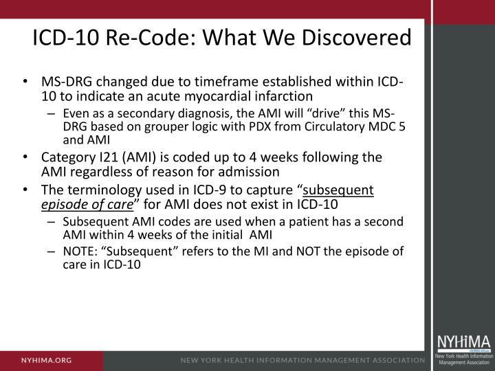 ICD-10 Re-Code: What We Discovered