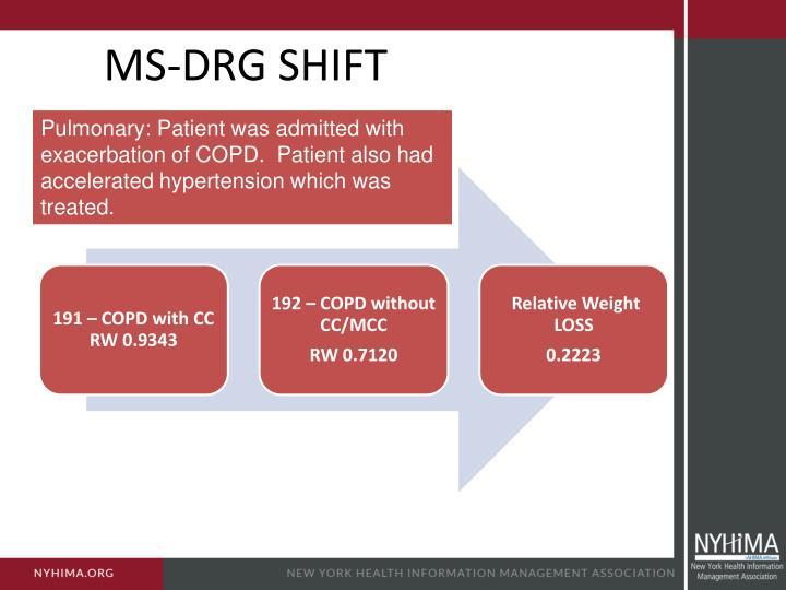 MS-DRG SHIFT