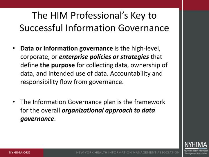 The HIM Professional's Key to Successful Information Governance