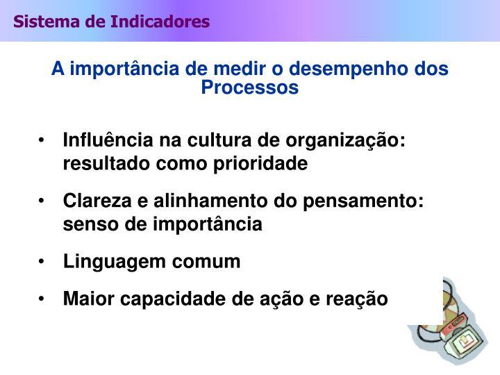 Influência na cultura de organização: resultado como prioridade