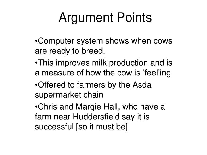 Argument Points
