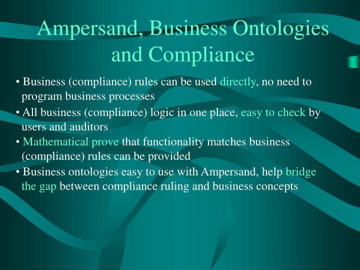 Ampersand, Business Ontologies